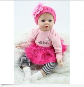 Nicery Reborn baby doll soft Silicone girl toy Image