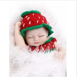11inCute Sleeping Girl Handmade Lifelike Reborn Doll Silicone Vinyl Newborn Baby Image