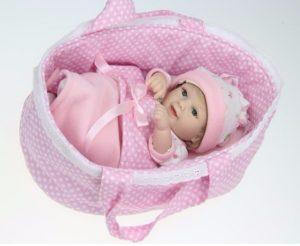 11'' Vinyl Silicone Reborn Baby Doll Girl Handmade Soft Lifelike Sleeping Doll