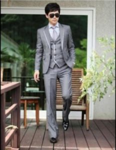 All New Slim Formal Wedding Dress Blazers Suits One Button Pants Vest Coat 3Pcs A5