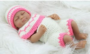 Terabithia Black African American Newborn Silicone Baby Dolls