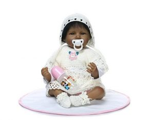 "MaiDe Reborn Baby Doll 22 "" Realistic Soft Silicone Vinyl Dolls Newborn Black Baby dolls African American Girl"