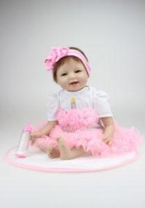 SanyDoll Soft Silicone Lovely Lifelike Princess Doll