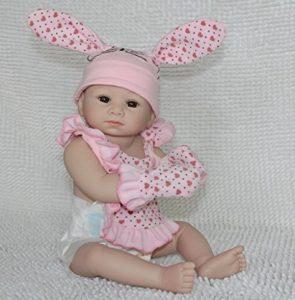 Full Body Silicone Vinyl Reborn Baby Bunny Girl Doll